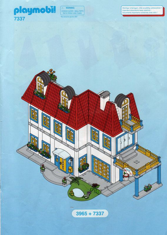 7337 extension de la maison contemporaine for Plan chateau fort playmobil