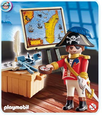 4293 Capitaine pirate avec carte