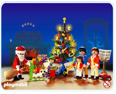 3931 Famille - sapin de Noël